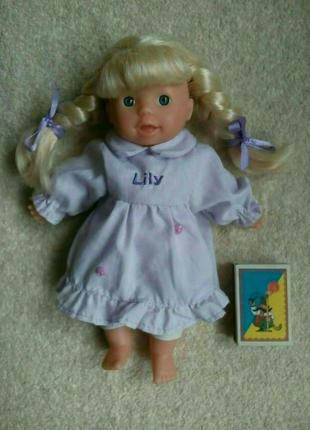Куколка пупс с мягконабивным телом 21см