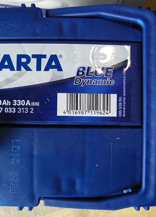 Varta Blue Dynamic 40Ah (A15) L+ на Daewoo Matiz