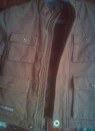 Куртка осень-весна утеплённая на 1-2 года
