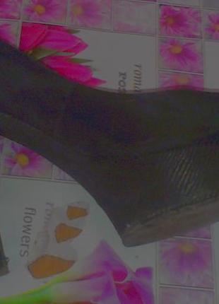 Туфли замшевые на высоком каблуке