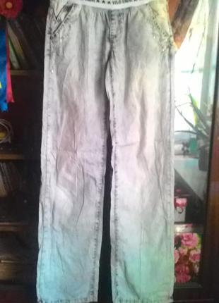 Лёгкие летние брючки на резинке под джинс
