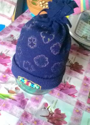 Флисовая шапка на осень-весну
