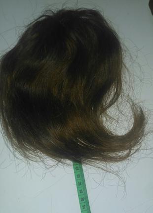 Остатки волос с шиньона