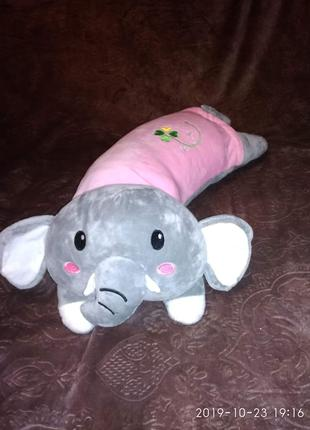 Плед игрушка подушка Слоник
