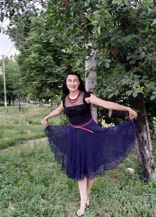 Ажурная юбка вязаная