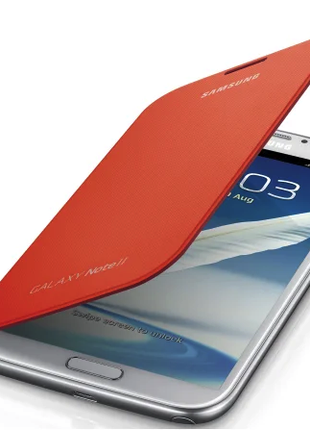 Чехол Samsung Galaxy Note 2 EFC-1J9FOEGSTD N7100 Orange
