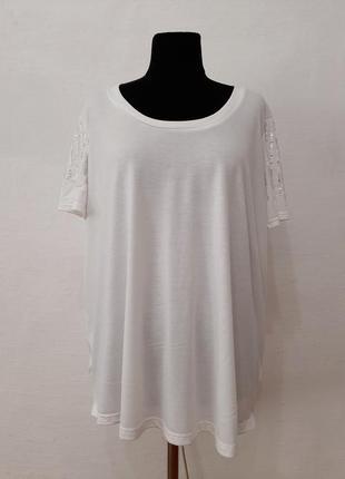 """Стильная модная футболка """" диамантик """" большого размера"""