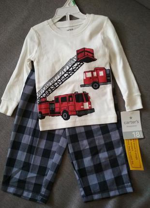 Комплект, пижама, новый carter's (картерс), мальчику на 1-2 го...