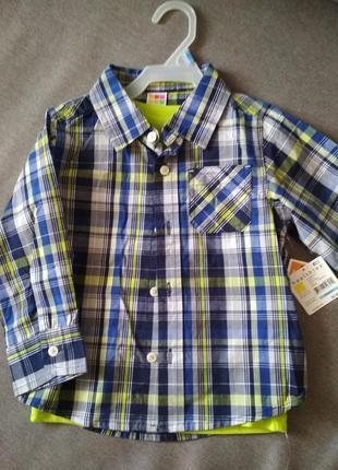 Комплект новый, рубашка и футболка healthtex, сша, мальчику на...