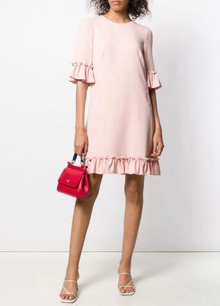 44-46 Dolce&gabbana пудровое розовое модное платье