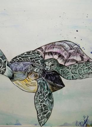 """Картина """"Зелені черепахи"""", 2019 рік"""
