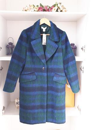 Шерстяное  пальто демисезонное h&m