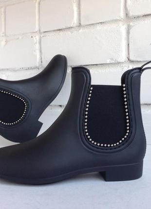 Резиновые ботинки, р. 37-40, полусапожки силиконовые, гумовi с...
