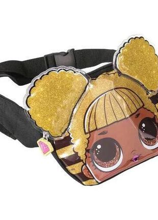 Детская бананка сумка на пояс с куколкою лол queen bee