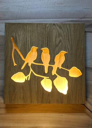 Панно(ночник) Ламповые птички