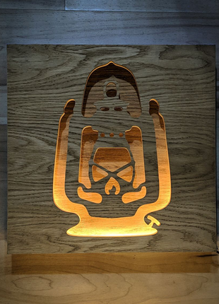 Панно (ночник) Ламповая Лампа
