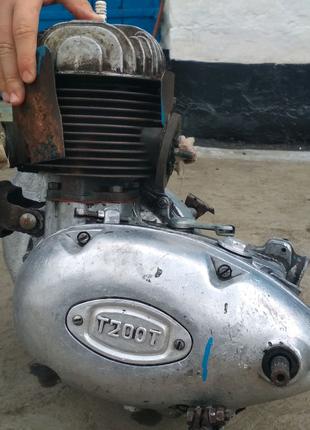 Двигатель Т200Т с мотороллера Тула Муравей.
