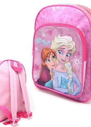 Дошкольный рюкзак холодное сердце фрозен с карманчиком розовый