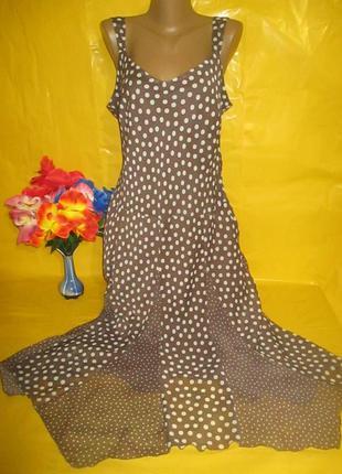 Очень красивое женское платье в горох на пышные формы damart (...