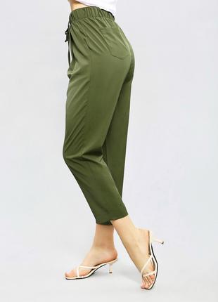 Свободный укорочённые брюки. Размеры: S-XL
