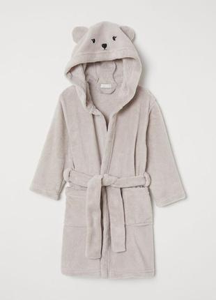 Hm халат с капюшоном для мальчика 4-6 лет