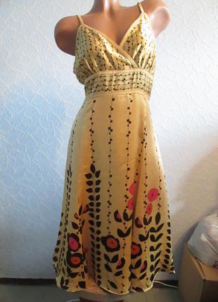 Шелковое платье 100% шелк