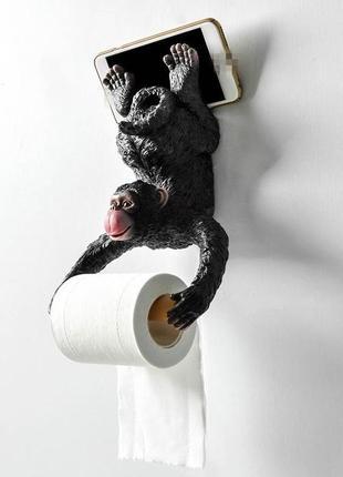 Держатель для туалетной бумаги обезьянка
