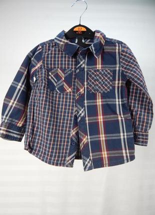 Стильная рубашка с длинным рукавом для мальчика 12-18 месяцев