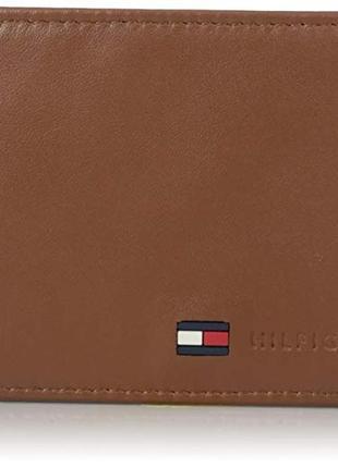 Кожаный кошелек tommy hilfiger оригинал мужской брендовый порт...