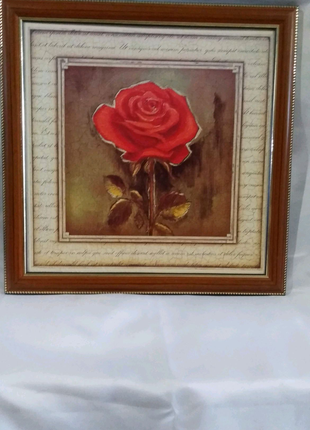 """Картина репродукция """"Роза""""."""