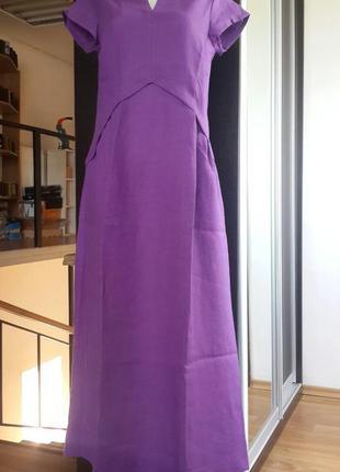 Летнее платье из льна season в стиле бохо цикломен