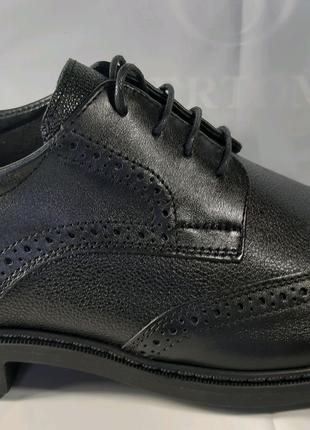 <<Кожаные классические туфли-броги BERTONI.40,41,42,43,44,45.