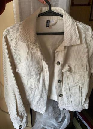 Вельветовый пиджак h&m