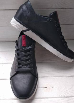 Кожаные спортивные мужские туфли на шнуровке р.41-45 наложенны...