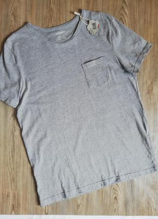 Качественная мужская футболка органический хлопок livergy m