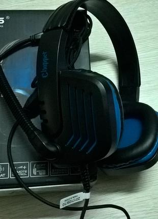 Наушники Sades SA-711 Chopper Gaming Headphone Blue/Black