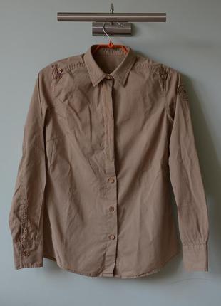 Рубашка napapijri в стиле милитари (s)