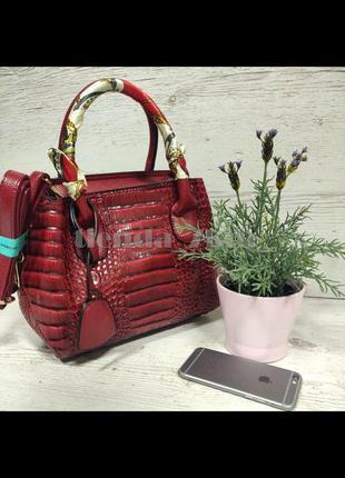 Повседневная женская сумка небольшого размера с платком c-1592...