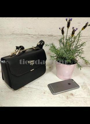 Стильная сумка через плечо / клатч david jones 5956-1 черный