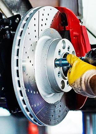 Тормозные диски, колодки для Mercedes, BMW, Range Rover  в нал...