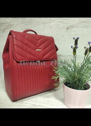 Стильный городской стеганый рюкзак david jones 6158-2 бордовый