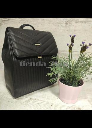 Стильный городской стеганый рюкзак david jones 6158-2 черный