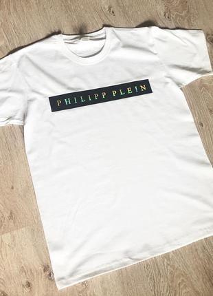 Новая мужская футболка philipp plein.