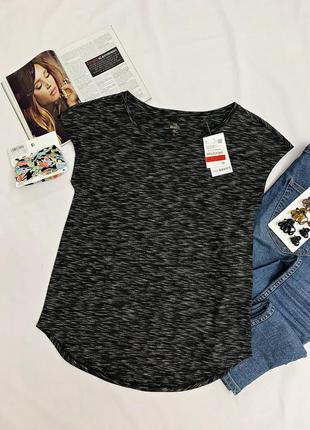 Легкая футболка серый меланж