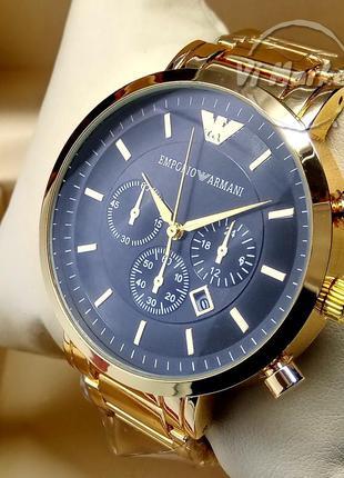 Кварцевые наручные часы emporio armani на металлическом брасле...