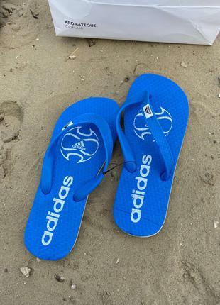 Шлепки Adidas Basic Blue