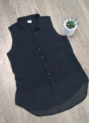 Черная рубашка безрукавка vero moda, s-m