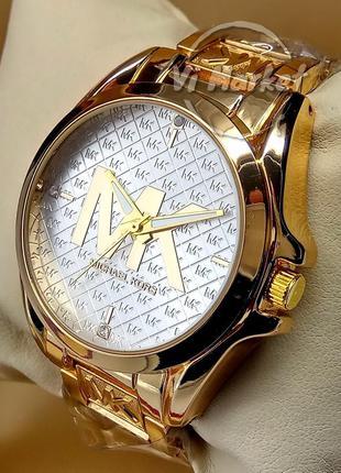 Женские кварцевые наручные часы michael kors на браслете золот...