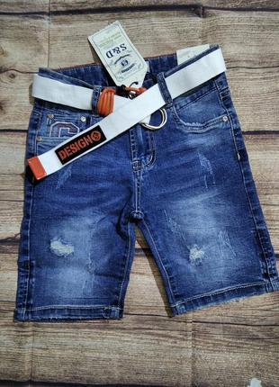 Джинсовые шорты для мальчиков 128,152.