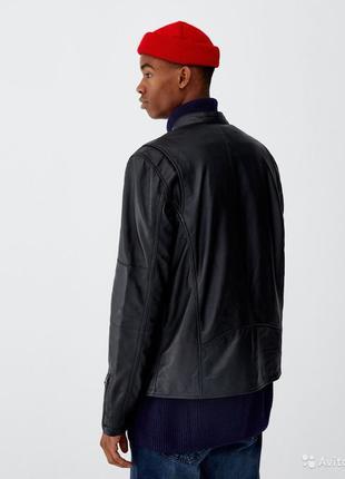 Куртка натуральная кожа pull&bear